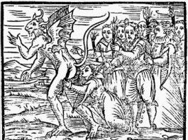 The Devil's Kiss Woodcut
