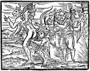The Devils Kiss Woodcut