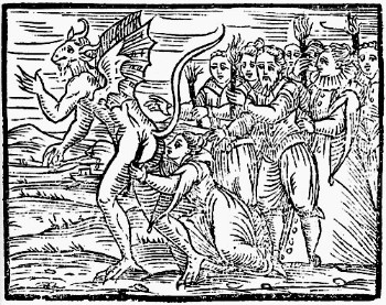 The Devil's Kiss Woodcut