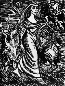 Lilith Woodcut Ernst Barlach